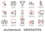 vector set of linear icons... | Shutterstock .eps vector #1840565596