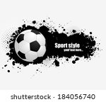 grunge banner with soccer ball | Shutterstock .eps vector #184056740