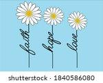 faith hope love daisy and...   Shutterstock .eps vector #1840586080