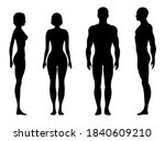 human body   silhouette isolated | Shutterstock . vector #1840609210