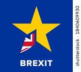 brexit logo concept. no deal... | Shutterstock .eps vector #1840609930