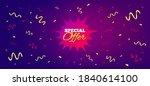 special offer sticker. festive... | Shutterstock .eps vector #1840614100