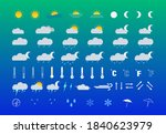 a set of weather icons on a... | Shutterstock .eps vector #1840623979