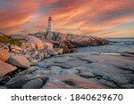 A Fiery Sky Over The Lighthouse ...
