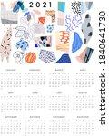 calendar 2020. modern printable ...   Shutterstock .eps vector #1840641730