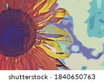 Sunflower Colorful Abstract...