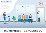 patients waiting for doctor at... | Shutterstock .eps vector #1840655890