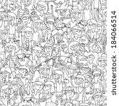 singing children seamless... | Shutterstock .eps vector #184066514