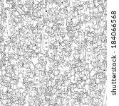 dance party seamless pattern... | Shutterstock .eps vector #184066568
