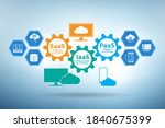 paas iaas saas concept in... | Shutterstock . vector #1840675399