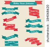 ribbons set collection red and... | Shutterstock .eps vector #184068620