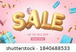 3d illustration of sale banner... | Shutterstock .eps vector #1840688533