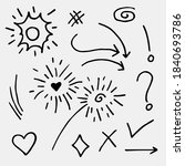doodle vector set illustration...   Shutterstock .eps vector #1840693786