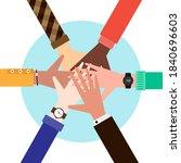 teamwork and brainstorm concept ... | Shutterstock .eps vector #1840696603