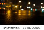 Dark Street Reflection On Wet...