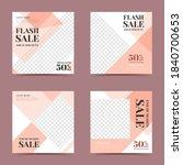 trendy flash sale social media... | Shutterstock .eps vector #1840700653