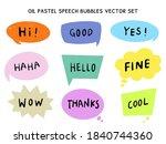 oil pastel cute speech bubbles   Shutterstock .eps vector #1840744360