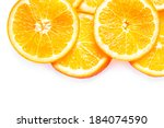 juicy fresh colorful orange... | Shutterstock . vector #184074590