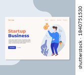 landing page template of... | Shutterstock .eps vector #1840751530