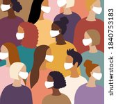 different women female diverse...   Shutterstock .eps vector #1840753183
