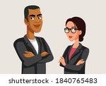 team of business people... | Shutterstock .eps vector #1840765483