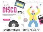 disco 80s retro party website...