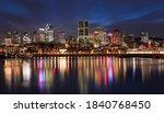 Montreal Skyline Illuminated A...