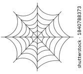 spider web. silhouette. vector...   Shutterstock .eps vector #1840788373