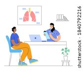 lungs anatomy and respiratory... | Shutterstock .eps vector #1840792216