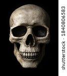 frontal view at human skull...   Shutterstock . vector #1840806583