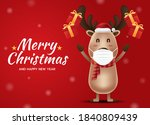 merry christmas and happy new... | Shutterstock .eps vector #1840809439