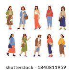 people wear casual clothes.... | Shutterstock .eps vector #1840811959