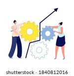 people work together. gender... | Shutterstock .eps vector #1840812016