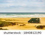 Camper Van Camping On Sea Shor...