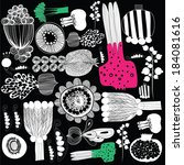 vector hand drawn calligraphic  ... | Shutterstock .eps vector #184081616