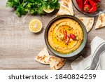 Roasted Red Pepper Hummus With...