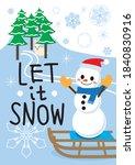 """let It Snow"" Snowman Greetings"
