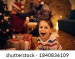 Happy Little Girl Wearing...