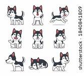 cartoon character set of... | Shutterstock .eps vector #1840841809