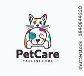 veterinary logo  cat and dog... | Shutterstock .eps vector #1840844320