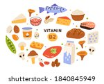 collection of vitamin b2... | Shutterstock .eps vector #1840845949