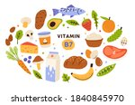 collection of vitamin b7 source.... | Shutterstock .eps vector #1840845970