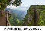 Panorama Of Tianmenshan Nature...