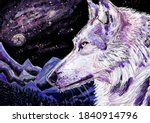 Wolf  Space  Mountains And...