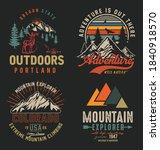 collection of vintage explorer  ... | Shutterstock .eps vector #1840918570