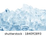Ice Cubes  Isolated On A White...