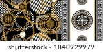seamless pattern decorated with ... | Shutterstock .eps vector #1840929979