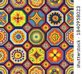cute abstract floral tiles...   Shutterstock .eps vector #1840958023