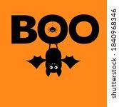 happy halloween. hanging bat....   Shutterstock .eps vector #1840968346