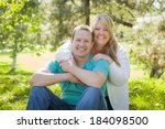 young attractive loving couple... | Shutterstock . vector #184098500
